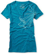 Casual Industrees Girls Wa Outline V-Neck Tee Shirt