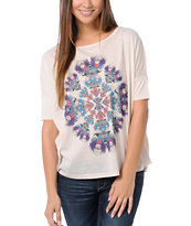 Element Girls Oracle Cream Scoop Neck Tee Shirt