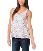 Element Girls Cassy Nat White Racerback Tank Top