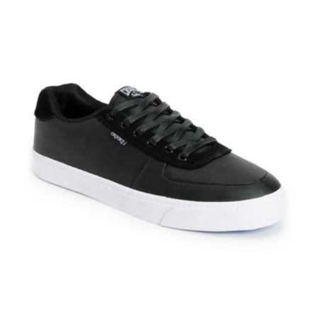 Crooks and Castles Isa Black Leather Shoe