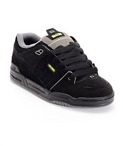 Globe Fusion Black, Charcoal & Lime Skate Shoes