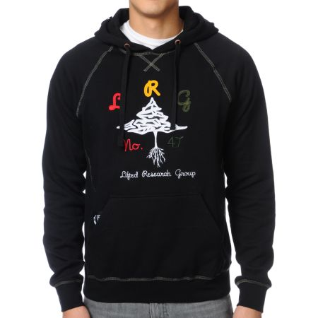 LRG Growington Black Fleece Pullover Hoodie