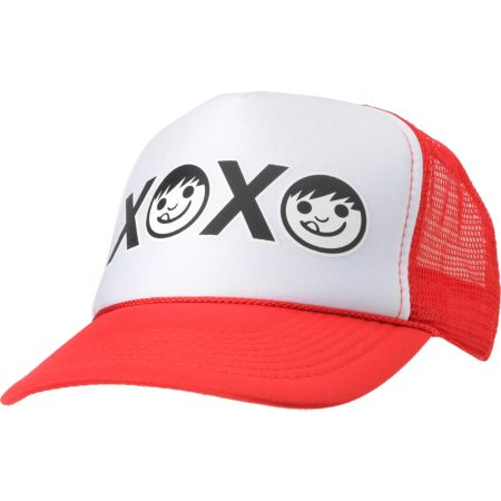 Neff Girls XOXO Red Snapback Trucker Hat