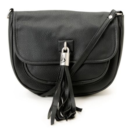 Volcom Girls Shake Your Tassel Black Crossbody Purse