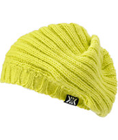 Volcom Girls x Krochet Kids Nel Lime Green Beanie