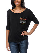Lira Girls Symbol Black Rayon Top