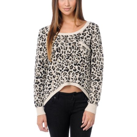 Billabong Girls Liv For Luv Cheetah Sweater