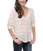 Billabong Girls Rider Oatmeal Heather Henley Shirt