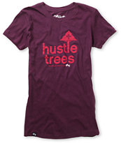 LRG Girls Hustle Trees Plum Purple Tee Shirt