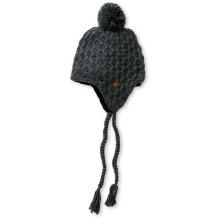 Empyre Girls Aisha Fleece Earflap Charcoal Knit Beanie