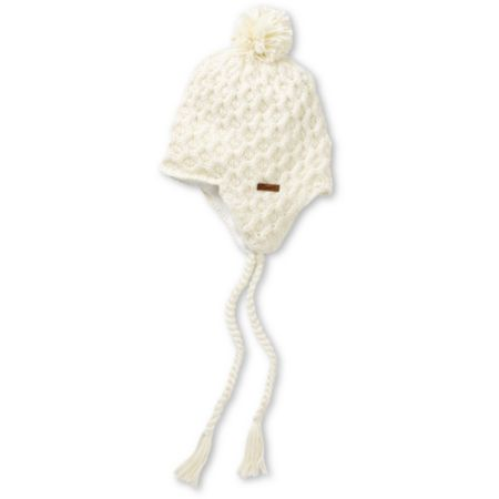 Empyre Girls Aisha Fleece Earflap Vanilla Knit Beanie