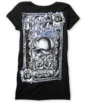 Metal Mulisha Mirror Mirror Black Scoop Neck Tee Shirt