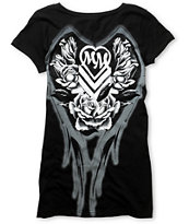 Metal Mulisha Wingin It Black Scoop Neck Tee Shirt