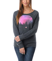 Glamour Kills Final Frontier Grey Raglan Pullover Sweatshirt