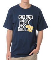 KR3W Letterman Navy Tee Shirt
