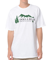 Casual Industrees Bear Shirt White Tee Shirt