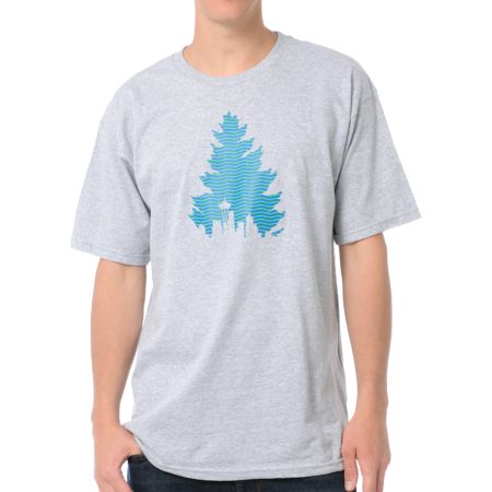Casual Industrees Johnny Tree Tread Heather Grey Tee Shirt