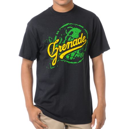 Grenade Team Art Black Tee Shirt