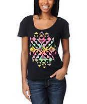 Volcom Girls Spark Dance Ruling Black Tee Shirt