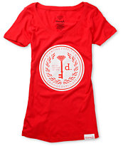 Diamond Supply Girls Cannot Duplicate Red Tee Shirt