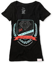 Diamond Supply Girls Society Black Tee Shirt