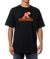 Skate Mental Monkey Black Tee Shirt