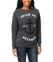 Glamour Kills Dream On Dreamer Charcoal Crew Neck Sweatshirt