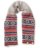 Stussy Girls Fairest Of The Isle Beige Knit Scarf