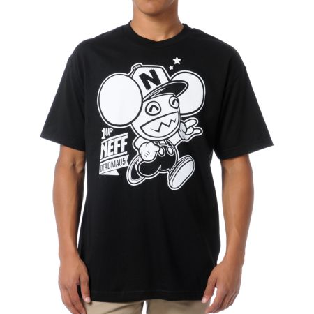 Neff x Deadmau5 Neffmau5 1 Up Black Tee Shirt