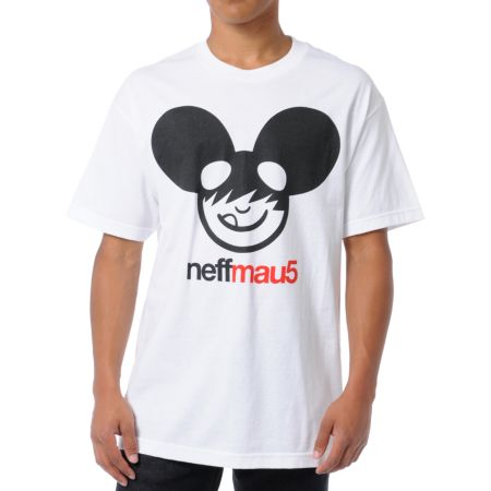 Neff x Deadmau5 Neffmau5 Icon White Tee Shirt