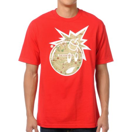 The Hundreds x Diamond Supply Adam Bomb Red Logo Tee Shirt