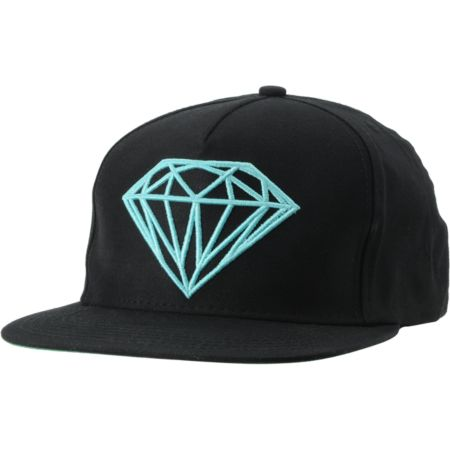Diamond Supply Brilliant Black & Diamond Blue Snapback Hat