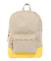 Herschel Supply Taupe & Yellow Mid-Volume Settlement Backpack