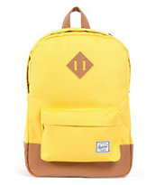Herschel Supply Heritage Mid-Volume Yellow Backpack