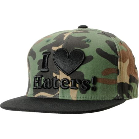 DGK I Love Haters Camo & Black Snapback Hat