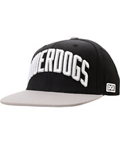 DGK Underdogs Grey & Black Snapback Hat