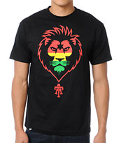 Teruo Rasta Lion Black Tee Shirt