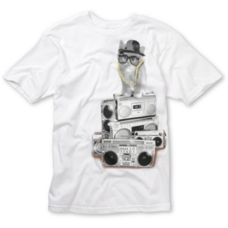 A-Lab Run DMKitty White Tee Shirt