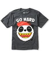 A-Lab Boys Go Hard Charcoal Tee Shirt