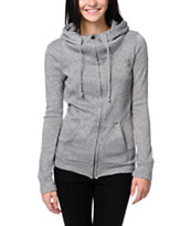 Volcom Girls Knit Me A Zip Up Hoodie