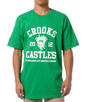 Crooks and Castles Primetime Green Tee Shirt