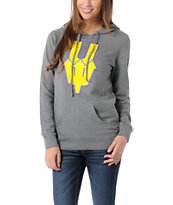 Casual Industrees U Dub Girls Grey Pullover Hoodie