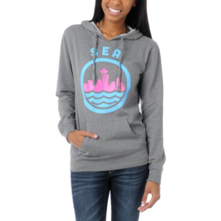 Casual Industrees SEA Girls Grey Pullover Hoodie