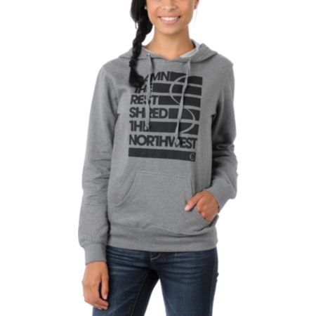 Casual Industrees Damn The Rest Girls Grey Pullover Hoodie