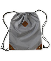 Dravus Grey Drawstring Bag