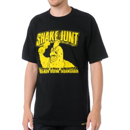 Shake Junt Chicken Bone Nowison Black Tee Shirt