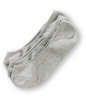 Empyre Girls 3-Pack Grey No Show Socks