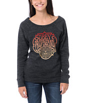Obey Multi Force Charcoal Grey Vandal Crew Neck Sweatshirt