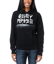 Obey Girls Destroy Stencil Black Pullover Hoodie
