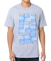 Heist And Co Wake Up Drunk Grey Tee Shirt